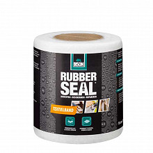 Bison Rubber seal Textielband 10 cm x 10 mtr